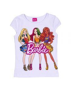 Blusa 4 a 10 Anos Cotton Barbies Mattel Branco