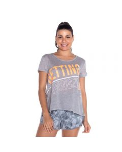 Blusa Ampla Estampada Scream Mescla