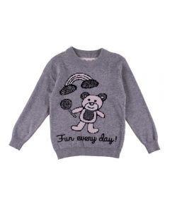 Blusa de 1 a 3 Anos com Desenho e Strass Yoyo Kids Mescla