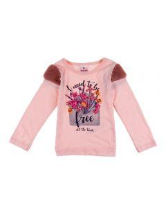 Blusa de 1 a 3 anos com Pelinho Brandili Rosa