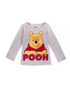 Blusa de 1 a 3 Anos do Ursinho Pooh Fakini Mescla
