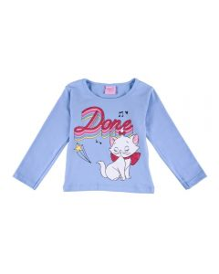 Blusa de 1 a 3 Anos Gatinha Marie Fakini Azul Claro