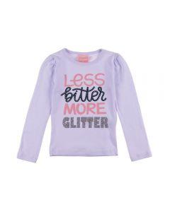 Blusa de 1 a 3 Anos Glitter Yoyo Kids Branco