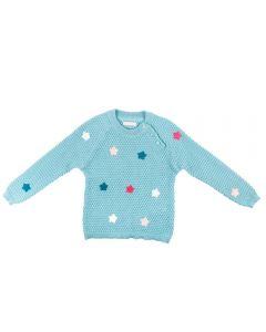 Blusa de 1 a 3 Anos Tricot Estrela Yoyo Kids Verde