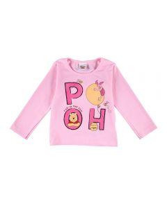 Blusa de 1 a 3 Anos Ursinho Pooh Disney Rosa Lavanda