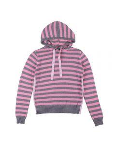 Blusa de 12 a 16 Anos de Tricot Listrado Marmelada Melange/Gloss