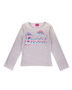 Blusa de 4 a 10 Anos Barbie Arco Íris Fakini Mescla