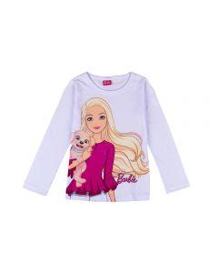 Blusa de 4 a 10 Anos Barbie Cachorrinho Fakini Branco