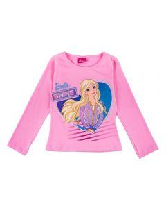 Blusa de 4 a 10 Anos Barbie Shine Fakini Rosa Petala
