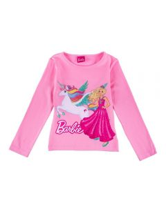 Blusa de 4 a 10 Anos Barbie Unicórnio Fakini