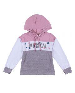 Blusa de 4 a 10 Anos com Capuz Magical Marmelada Lvd/Brc/Msc