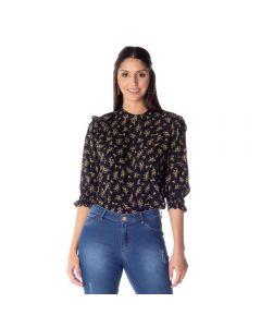 Blusa Feminina Adulto Flores Contatho Estampado