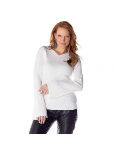 Blusa Feminina Adulto Tricot Modal Patrícia Foster - White P