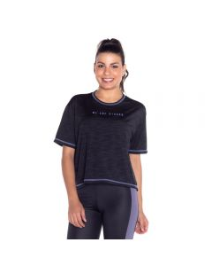 Blusa Fitness com Estampa Scream Preto