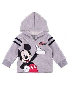 Blusão de Bebê Moletom com Capuz Mickey Disney