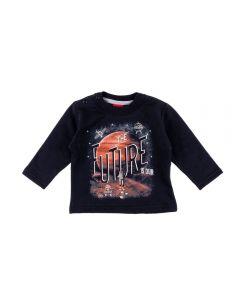 Blusão de Bebê Moletom Future Kyly Preto