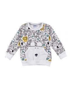 Blusão de Bebê Moletom Safari com Bolso Rovitex Off White