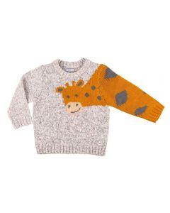 Blusão de Bebê Tricot Girafa Yoyo Baby