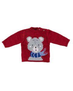 Blusão de Bebê Tricot Urso Yoyo Baby