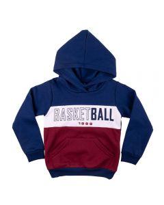 Blusão Infantil Moletom Basketball Yoyo Kids Marinho