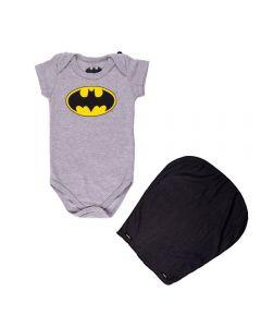 Body de Bebê Batman + Capa Dc Comics Mescla Stone