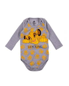 Body de Bebê Lion King Disney Mescla Stone