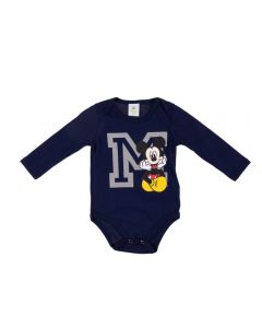 Body de Bebê Mickey Disney Marinho