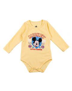 Body de Bebê Mickey Mouse Disney Amarelo