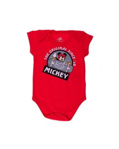 Body de Bebê Mickey Skatista Disney Tomate