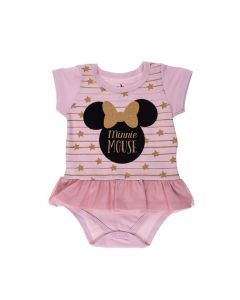 Body de Bebê Minnie com Sainha Disney Rosa Soft
