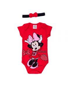 Body de Bebê Minnie com Tiara Disney Tomate