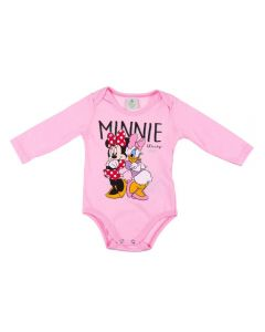 Body de Bebê Minnie Disney Rosa Claro