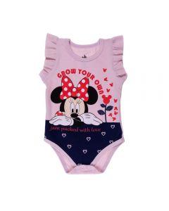 Body de Bebê Minnie Grow Disney Rosa Retro
