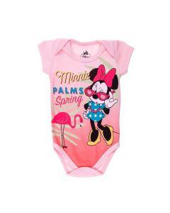 Body de Bebê Minnie Palms Disney Rosa Claro
