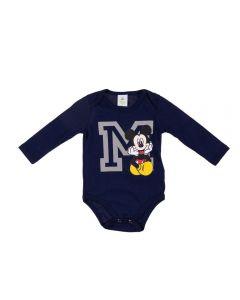 Body Infantil Mickey Disney Marinho