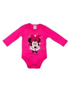 Body Infantil Minnie da Disney Rosa