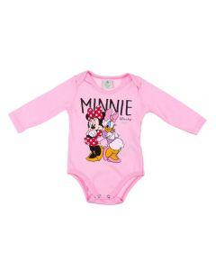 Body Infantil Minnie Disney Rosa Claro