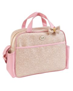 Bolsa de Maternidade G Clássica Tutti Baby - Bege com Rosa