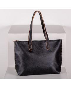 Bolsa Sacola Tote Bag Grande Semax - Preto