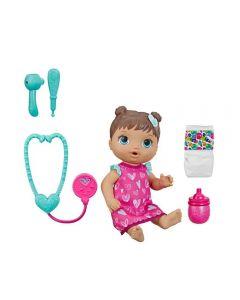 Boneca Baby Alive Cuida de Mim Hasbro - E5837 - Morena