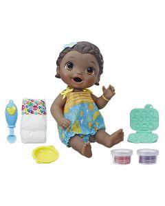 Boneca Baby Alive Lanchinhos Divertidos Negra Hasbro - E5839