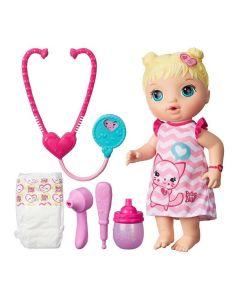 Boneca Baby Alive Loira Cuida de Mim Hasbro - ROSA