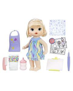 Boneca Baby Alive Loira Pequena Artista Hasbro - AZUL