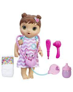 Boneca Baby Alive Morena Cuida de Mim Hasbro - Rosa