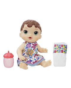 Boneca Baby Alive Hora do Xixi Morena Hasbro - E0499