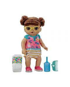 Boneca Baby Alive Sapatos Brilhantes Hasbro - E5248 - Morena