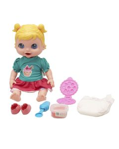 Boneca Baby Collection Comidinha 318 Super Toys - Verde