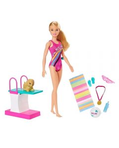 Boneca Barbie Aventuras Barbie Nadadora Mattel - GHK23