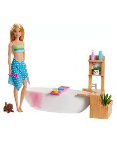 Boneca Barbie Banho De Espumas Mattel - GJN32
