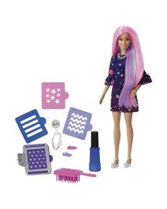 Boneca Barbie Cabelos Coloridos FHX00 Mattel - Rosa